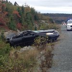 RT @AnjuliCBC: Traffic on the 103 moving slowly toward exit 3 following a crash involving this vehicle #cbcns #halifax http://t.co/T58ZaVuUWZ