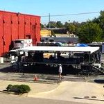 RT @BricktownOKC: Stage is set. Beautiful day. Get downtown early. Halloween Parade and Zombie Ball 2014. @AutoAlleyOKC 7pm. http://t.co/eiqCh091ql