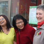Lots of laughter and support in East York - with the wonderful Councillor @Janet_Davis. #TOpoli http://t.co/MUEasbIi4t