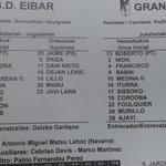 RT @sd_eibar: Eibar-Granada. Alineaciones-Hamaikoak. http://t.co/xrL8zkqcxe