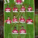 #GranadaCF XI: Roberto; Nyom, Babin, Murillo, Foulquier; Piti, Fran Rico, Iturra, Sissoko; Success, Córdoba. http://t.co/aDnBwFP6Qx