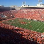 About to get this #okstate game going. Going to be a tough challenge against West Virginia today. http://t.co/goZgW8NB6D