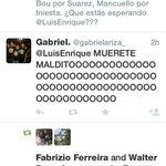 .Wow estos son los tipos de twitts que le envían a Luis Enrique del Barca, a mi cuenta. Fuerrrtteeee http://t.co/RuxE6vFjXg