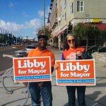 RT @kenyaw: At 7th & Mandela in West #Oakland supporting my #1 #oakmayor candidate @libbyformayor w/volunteer Joan & her daughter http://t.co/Wn0fEo7VeO