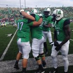 #47 Johnson celebrates with his teammates after the 1st touchdown of Herd vs. FAU! #BeastMode #ProtectTheM http://t.co/psnzJvxro7