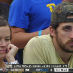RT @ESPNU: Pittsburgh: 5 snaps + 4 fumbles = LOTS OF UNHAPPY FANS. #Ouch http://t.co/a7Lb5mpmQJ