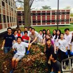 Today is Community Day at Cornell and 60 students came to IHS to help beautify our campus. http://t.co/ltL3Ee5s6P