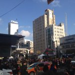 Just your average day at Ryerson. Yonge and Dundas crazy as usual. Zombie walk down Yonge http://t.co/ekIuk6kFEW