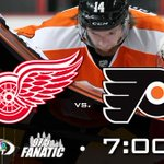 Only an hour to go until puck drop vs. Detroit! Tune in: @CSNPhilly & @975TheFanatic http://t.co/aETVlxbHGB