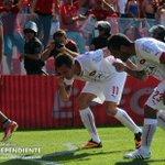 #Independiente - ¿Desde dónde pateaste? Parece preguntarle el Rolfi a Mancu en el festejo del golazo olímpico. http://t.co/ld0ZP8joce
