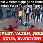 PKKnın 3 Mehmetçiği şehit etmesinin ardından yerde yatanları tanıyalım; DEVLET, VATAN, ŞEREF, ONUR, HAYSİYET! http://t.co/I4u26lRp26