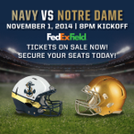 Congrats to @NavyAthletics on their big win today! See them live at #FedExField on 11/1: http://t.co/2KirzhKtrD http://t.co/fyfzni9XcB
