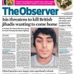 """RT @SkyNews: THE OBSERVER FRONT PAGE: """"Isis threatens to kill British jihadis wanting to come home"""" #skypapers http://t.co/zjLDFPaTg5"""