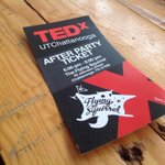 RT @TEDxUTChatt: #TEDxUTChatt After Party kicks off at 6pm, and weve got a ticket to give away. Who wants it? 21+ only http://t.co/JLLaZ1e0pF