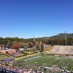 The most beautiful football backdrop around! #homeatfurman @FurmanU http://t.co/nUrvlXCApT