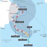 RT @shathamaskiry: Path prediction for cyclone nearing Oman http://t.co/YfYYwoodcd
