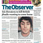 RT @guardiannews: Observer front page, Sunday 26 October 2014: Isis threatens to kill British jihadis wanting to come home http://t.co/oklLYVvG6W