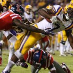 RT @BleacherReport: Down goes No. 3 Ole Miss! Leonard Fournette rushes for 113 yards as No. 24 LSU takes down the Rebels 10-7! http://t.co/yHLtWyRsxf