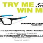 "RT ""@OakleyIndonesia: O Fans, ikutan TRY ME&WIN ME yuk!Kamu bisa dpt kesempatan memenangkan #OakleyCrosslink GRATIS! http://t.co/APLymlQ8kI"""