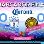 MARCADOR FINAL @Tuzos 0-0 @LeonesNegrosCF Jornada 14 #AP14 @LIGABancomerMX #MásTuzoQueNunca http://t.co/Spq9wR5f3x