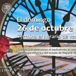 No olviden retrasar una hora el reloj antes de dormir! Buenas noches. #CambioDeHorario http://t.co/Z4A7Cb1Td4