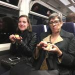 Birthday girl & team giving out birthday cake to whole train carriage (who loudly sang HBD! #london #lovelondon http://t.co/i0ir0fqYxZ