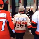 RT @JDfromCJAY: VERY cool. Fans in #Ottawa are wearing Nathan Cirillo's name on their jerseys tonight. #OttawaStrong #CanadaStrong http://t.co/MKpozdjxct