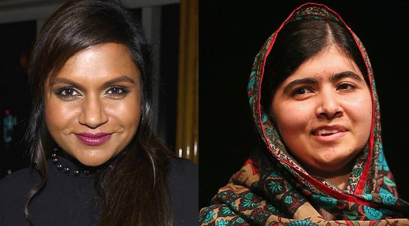 "Mindy Kaling was mistaken for Malala Yousafzai by a ""tipsy man""...awkward..."