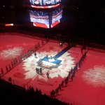 RT @MapleLeafs: The coordinated tribute underway #CanadaStrong http://t.co/LMudXKNr11