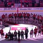 RT @NHLexpertpicks: Amazing pre-game ceremonies in #Canada tonight. True north strong and free. #OCanada http://t.co/IGQmRMNX16