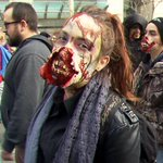 Zombies marched downtown on Saturday to raise money for the Canadian Wildlife Foundation http://t.co/wW4k4HS6HJ http://t.co/NEGnikSwpI