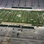 RT @BTNBrentYarina: So cool: Michigan, MSU bands form #chadtough on field after game - http://t.co/VPzDmzu72w (Photo: @BSB_Wolverine) http://t.co/o6F2FixAHn
