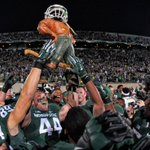 Great photo of @MSU_Football celebrating with the Paul Bunyan trophy. #MSUvsUM http://t.co/kRW1Qu7T6o