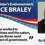 RT @DMRegister: .@DMRegister editorial board endorses Bruce Braley for U.S. Senate. http://t.co/iXPLdHK7V7 http://t.co/S72IKK9VBA