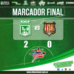 RT @nacionaloficial: Finaliza el partido, con goles de Peralta y Cardona el cuadro Verdolaga vence a Águilas Pereira. #MiNacionalenvivo http://t.co/KE3c4lMKR9