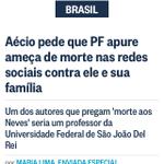 RT @alves48: #Aécio e família sofrem ameaça de morte!@JornalOGlobo #AgoraEAecio45Confirma http://t.co/xGL6mhpikm