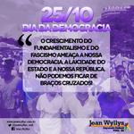 RT @jeanwyllys_real: O crescimento do fundamentalismo ameaça nossa democracia. Não podemos ficar de braços cruzados #DiaDaDemocracia ASCOM http://t.co/nwOCN0G7XC