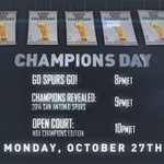 .@NBATV will honor the @Spurs all day Monday with the inaugural Champions Day celebration: http://t.co/lLnItR0gDK http://t.co/XCeAK1n4r9
