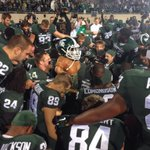 RT @isportsDave: Great photo by @Spartan_Radio of Paul Bunyan joining the MSU team in prayer after the 35-11 Michigan win. http://t.co/3MG6sVPVx8