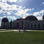 Griffith Observatory on a Saturday morning...lots of hikers already #LosAngeles http://t.co/KWozzFi62T