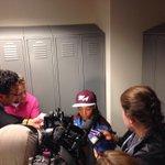 Mone Davis talking to media at the #WorldSeries #ShesAStar http://t.co/ZDHnuRyRSR