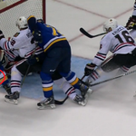 This angle shows puck completely across Chicago goal line after being shot by @StLouisBlues Ryan Reaves. #HockeyOps http://t.co/1rArWx4Ybg