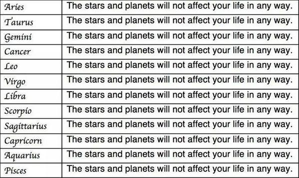 "Announcing a new weekly service here on @publicfarley's Twitter feed.  It's called: ""Your Horoscope""   Enjoy. http://t.co/5jOAzmCRWH"