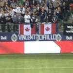 Tributes to fallen soldiers Vincent and Cirillo at tonights @WhitecapsFC match. #VWFC http://t.co/QHzaOPzmz7