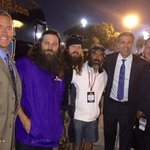 Hey fellas thanks for joining us today on @CollegeGameDay and congrats to your Tigers!! @williebosshog @JaseDuckman http://t.co/MLhWITXd09
