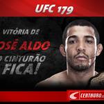 RT @centauroesporte: José Aldo mostrou porque é o dono do cinturão! Belíssima luta! Vitória na decisão dos juízes! #UFC179 http://t.co/VzaimzNS0B