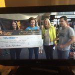 RT @sarahstopher: @Loscienziato and @philbritten presenting a cheque for @kidscancercure #telethon7 http://t.co/TkNx9CKBQz