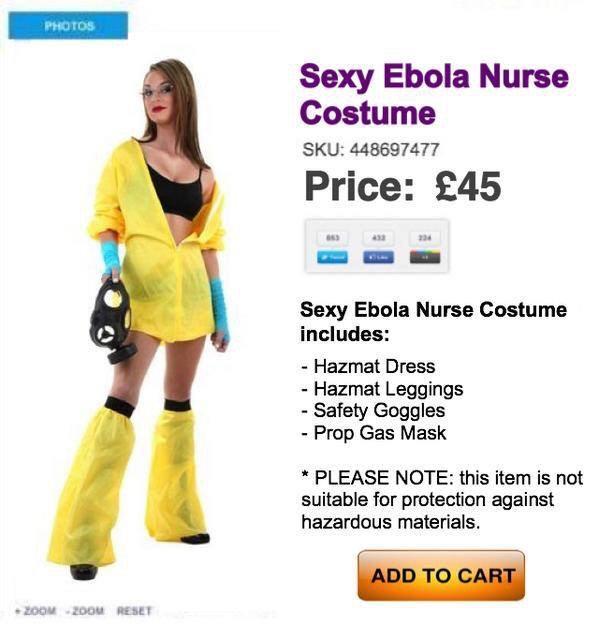 Sexy Ebola nurse costume. I can't even.... http://t.co/DV6TVO4msY