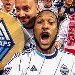 Epic post-match @Southsiders selfie with the goal scorer who put @WhitecapsFC in the @MLS playoffs: @KWaston88. #VWFC http://t.co/2uc8cEwEX4