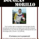 Hoy esta de Cumpleaños @DouglasMorilloB estudiante con mas de 5 meses detenido en el sebin #BarrotazoXLaLibertad http://t.co/icxZ5yM9eQ